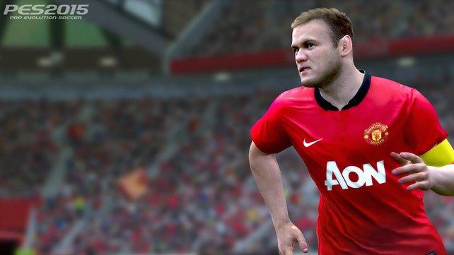 Wayne Rooney von Manchester United ist nur ein Beweis für den Detailreichtum der Spielermodelle von PES 2015.