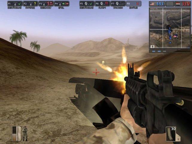 In der Mod entbrennt ein erbitterter Mehrspielerkonflikt zwischen den Truppen des Iraks und der Vereinigten Staaten.
