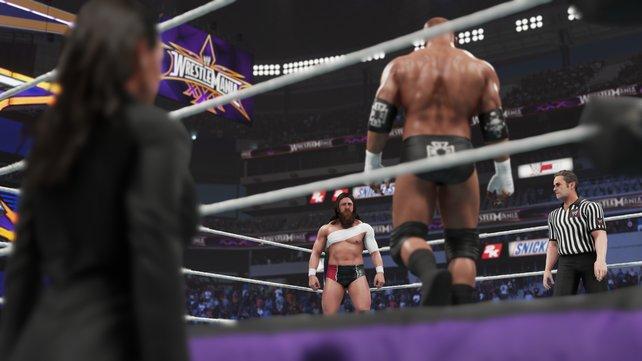 Daniel Bryan gegen Triple H bei Wrestlemania 30 - auch diesen Kampf spielt ihr nach.