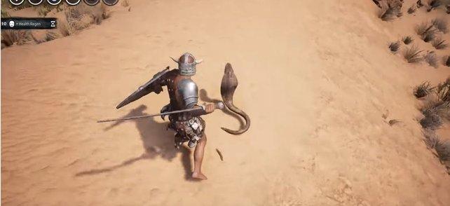 Eine Kobra ist schnell und sehr giftig.