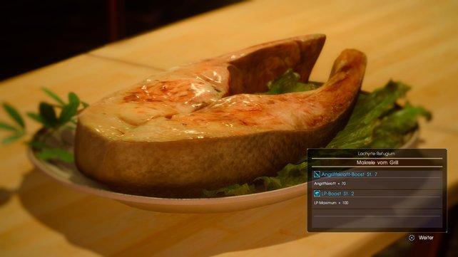 Sieht das nicht lecker aus? Wie zeigen euch alle Rezepte in FF 15 und Leibgerichte der Crew.