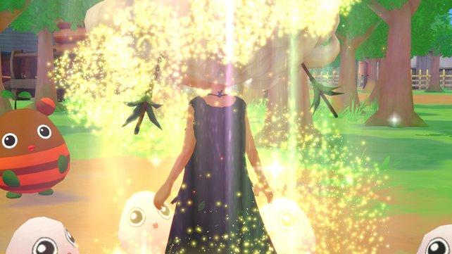 Die Gnome und die Kraft der Natur helfen dem kleinen Mädchen zu ihrer eigentlichen Form zurückzukehren.