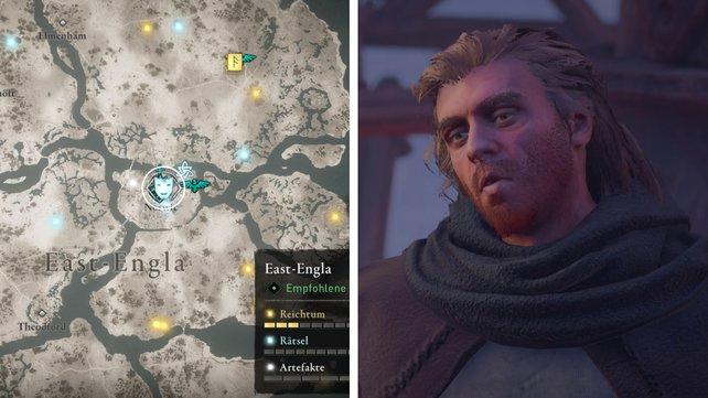 Die Karte euch zeigt den Standort von Ceaddawic.