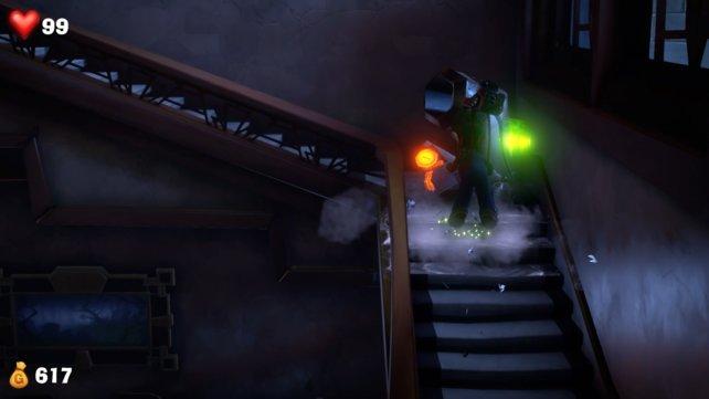 Der Druckstrampler ist ein nützlicher Angriff, um Objekte aus dem Weg zu räumen und um Geister abzuschütteln.