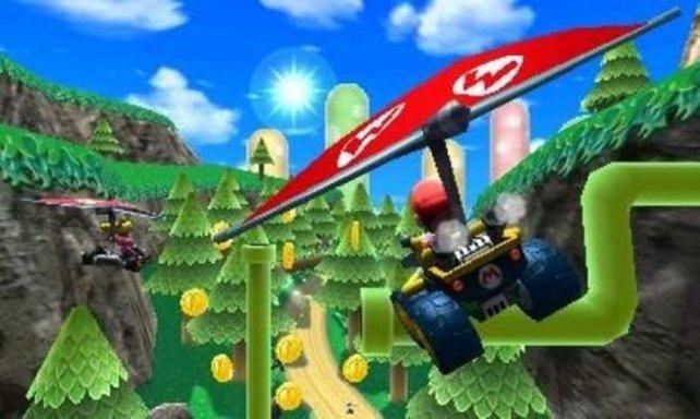 Mario Kart 7 entfernt sich als erstes vom Mario-Kosmos: Zwei der Strecken spielen auf der Wii-Sports-Insel Wuhu Island.