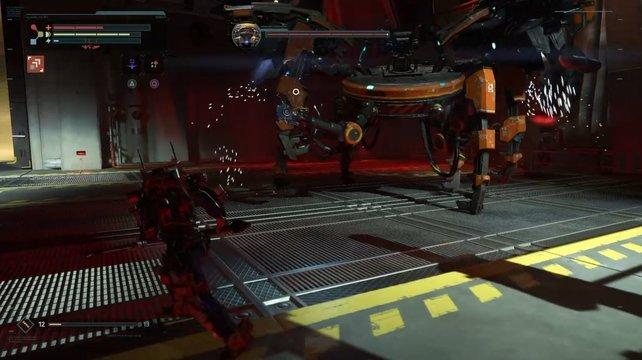 Der zweite Boss in The Surge: Nur selten ist der LU-74 Firebug auf den Beinen unterwegs.