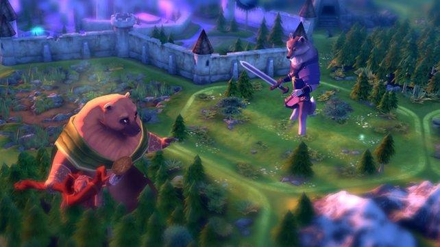 Hier sagen sich Bär und Wolf gute Nacht.