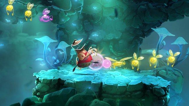 Viele Gesichter in Rayman Legends ziehen Grimassen ... warum nur?