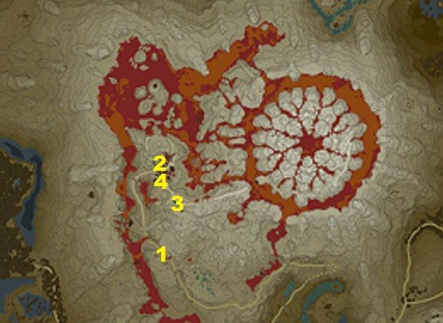 Die vier NPCS findet ihr an diesen Standorten beim Eldin-Turm.