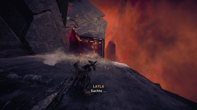 Als Layla müsst ihr ebenso wie Eivor und Sigurd zuvor Yggdrasil erreichen, indem ihr einen Weg durch den Tempel findet.