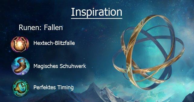 Mit den Fallen-Runen habt ihr eine Fähigkeit oder einen Gegenstand zur Verfügung, über die andere Spieler nicht verfügen dürfen, wenn sie keine Inspiration haben.