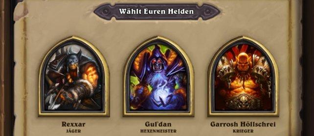 In der Arena könnt ihr aus drei zufälligen Helden wählen...