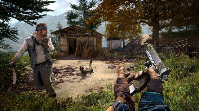 Im Mehrspieler-Modus übernimmt euer Mitstreiter die Rolle des Rednecks Hurk.