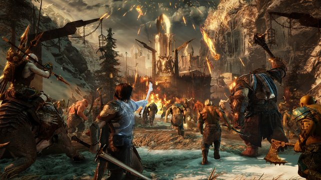 Bereit zum Gefecht: Talion hat eine ganze Armee aus Verbündeten an seiner Seite.