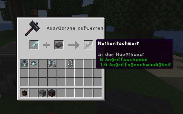 Um in Minecraft Netherite-Gegenstände herzustellen, benötigt ihr zwingend einen Schmiedetisch.