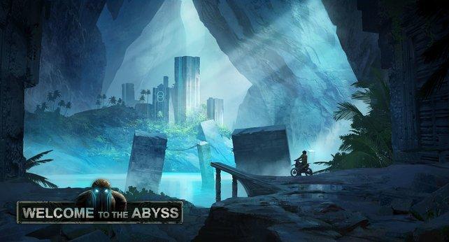 """Rennfahrt unter Wasser? Kein Problem mit der Erweiterung """"Welcome to the Abyss""""."""