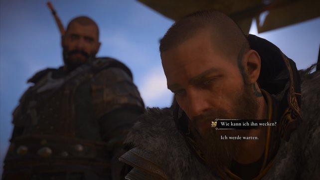Auf der anderen Seite des Lagers findet ihr einen Nordmann, dessen betrunkener Bruder Ceolbert gesehen haben soll.