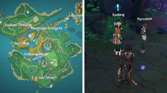 Die Karte zeigt euch den Fundort der vierten Feinschmecker-Quest.