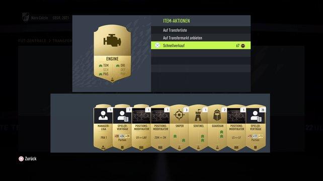 Auch in FIFA 22 ganz einfach: So könnt ihr Verbrauchsobjekte finden und verkaufen.