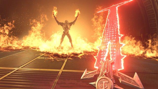 Mit diesem Schwert könnt ihr in Doom Eternal auf Dämonenjagd gehen.