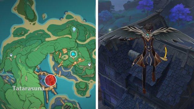 Die Karte zeigt euch den zweiten Fundort eines Schlüssels zu einem Ort.