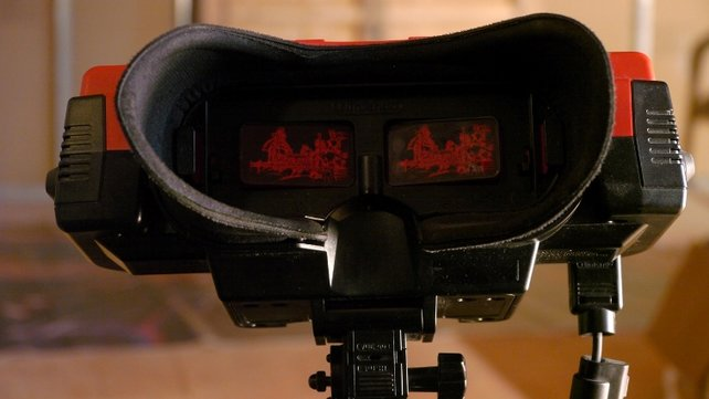 Der Virtual Boy arbeitet mit dem Prinzip der Parallaxenverschiebung: Die beiden Bilder sind minimal zueinander versetzt. So entsteht ein räumlicher Eindruck.