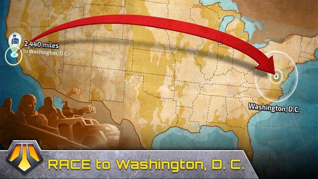Die amerikanische Hauptstadt Washington an der Ostküste ist euer Ziel.