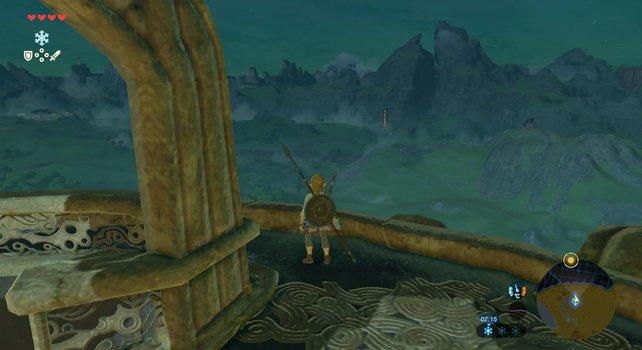 In der Ferne könnt ihr bereits den Turm der Zwillingsberge sehen.