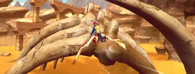 In Monster Hunter Stories könnt ihr auf den bekannten Monstern reiten und mit ihnen fliegen.