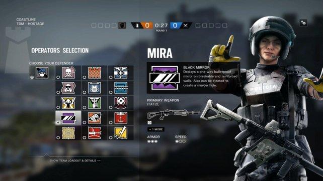 Neuer Operator: Mira ist neben Jackal einer der zwei neuen Operators mit spanischer Herkunft.