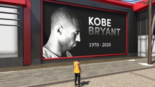 Spieler zollen in NBA 2K ihren Tribut für NBA-Star Kobe Bryant.
