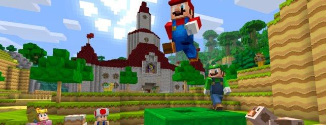 Minecraft Wii U Edition Jetzt Erobert Super Mario Die Klötzchenwelt - Minecraft wii u spieletipps