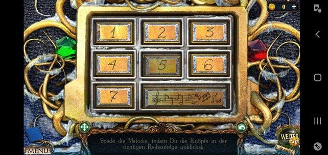 Die Lösung ist: 5 – 3 – 7 – 2 – 4 – 6 – 1