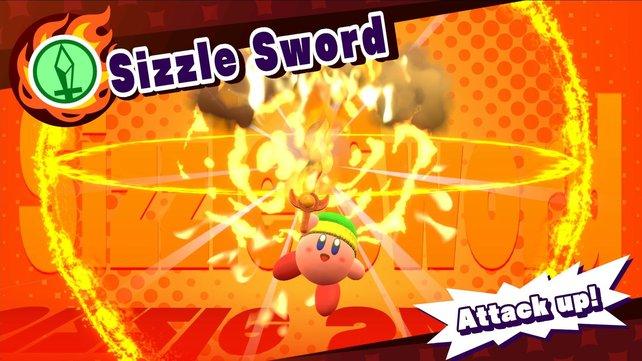 Dank der Flammen eurer Freunde wird das Schwert zum Feuerschwert.