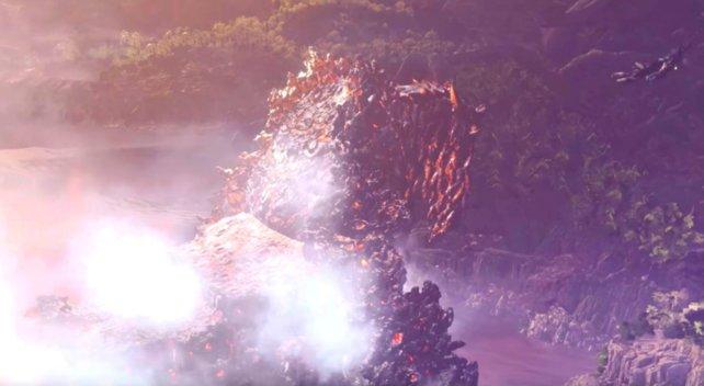 Vulkan, Berg oder Drachenältester? Der Zorah Magdaros ist das mit Abstand größte Wesen in MHW.