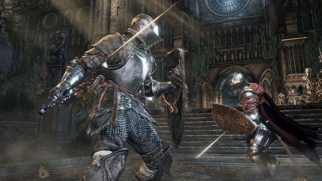 Die feindlichen Ritter erinnern ein wenig an die Baldur Knights aus dem ersten Teil.