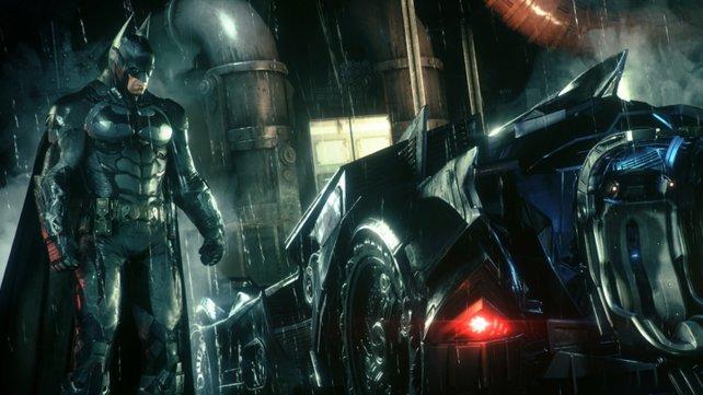 Ein gewaltiges Duo: Batman und sein Batmobil.