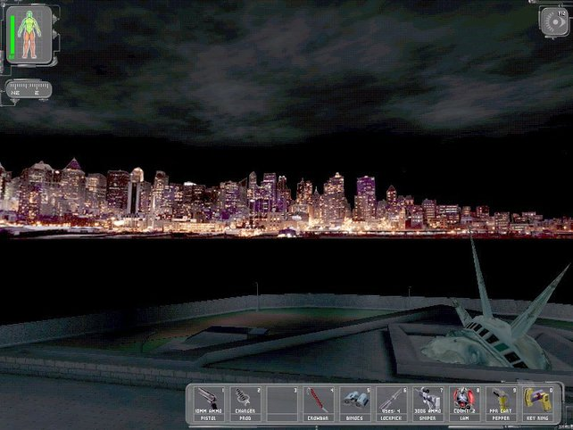Hier seht ihr die Skyline von New York in Deus Ex. Was fehlt? Das World Trade Center.