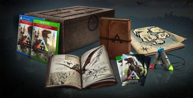 Eine von vielen Editionen: Das ist die hübsche Collector's Edition von Ark - Survival Evolved.