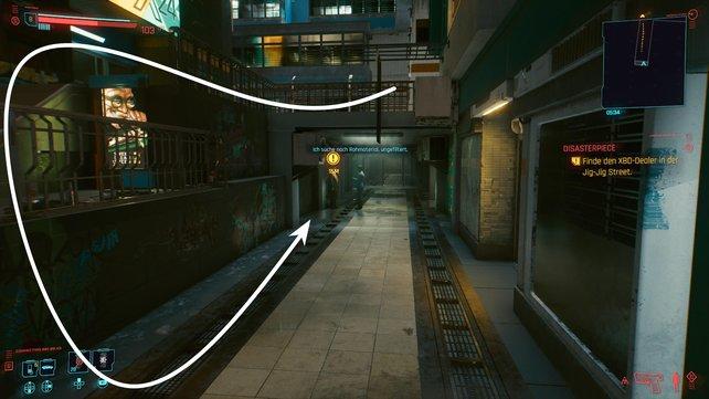 Kehrt in die Jig-Jig Street zurück und betretet die nahegelegene Untergrundpassage, um den XBD-Dealer zu finden.