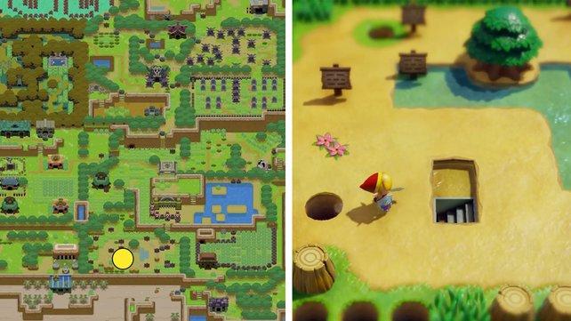 Hier lernt ihr den Krötenrap in Zelda: Link's Awakening.