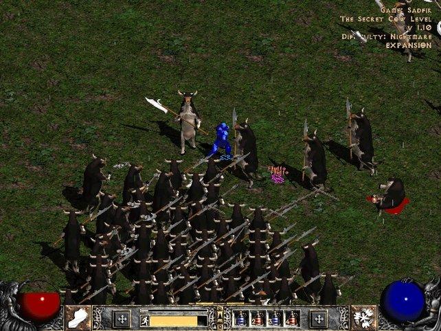 Bis heute eines der herrlichsten Beispiele für absurde Cheats: die Kuh-Dimension in Diablo 2.
