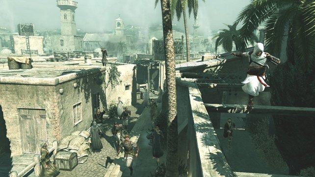 Die Grafik von Assassin's Creed galt einmal als Meilenstein. Heute wirkt sie sehr veraltet.