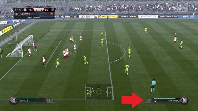 Am unteren rechten Bildschirmrand seht ihr eure Wertung für das laufende Spiel.
