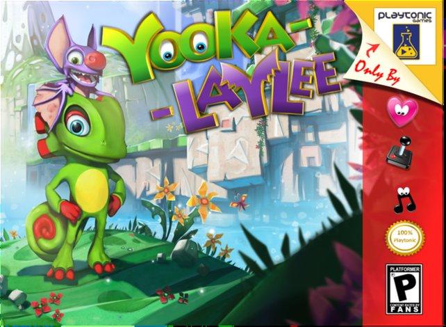 Yooka-Laylee soll 2017 für PC, PS4, Xbox One und Wii U in einer typischen N64-Verpackung erscheinen. Allerdings gibt es diese Version nur für Kickstarter-Geldgeber, die die Entwicklung vorab unterstützt haben.