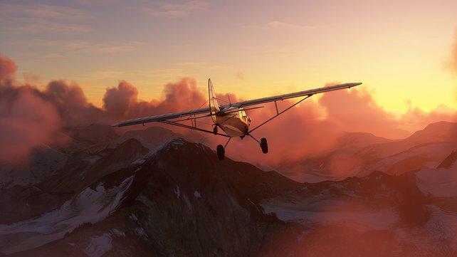 Über den Wolken: Schon bald könnt ihr den Microsoft Flight Simulator selbst ausprobieren.