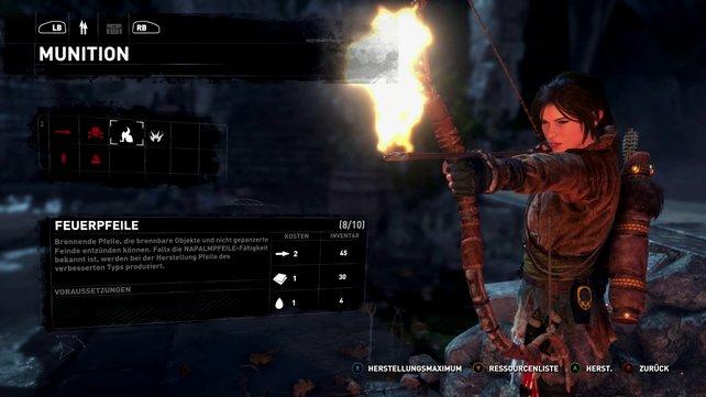 Mit den Feuerpfeilen habt ihr in den Kämpfen völlig neue Möglichkeite.
