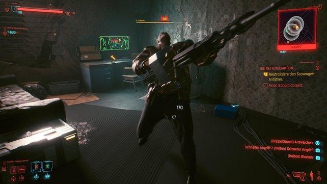 Nutzt eine Blendgranate um den MG-Schützen zu überumpel und stürzt dann auf ihn zu, um ihn KO zu schlagen.