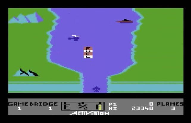 Ein Pixelflugzeug fliegt über einen Fluss. Na logisch, dass das jugendgefährdend ist!