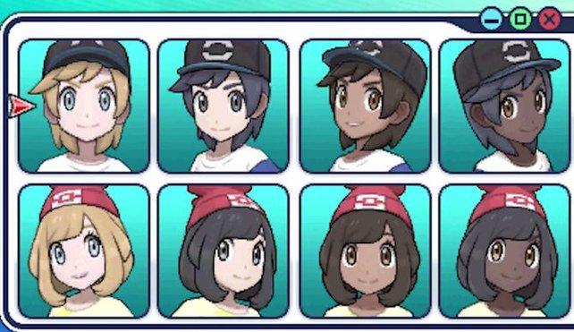 Der Bildschirm bei der Charaktererstellung.